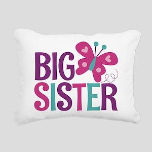 Butterfly Big Sister Rectangular Canvas Pillow