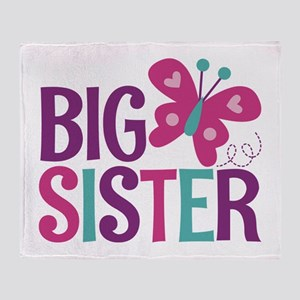 Butterfly Big Sister Throw Blanket