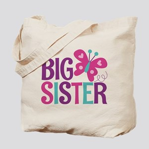 Butterfly Big Sister Tote Bag