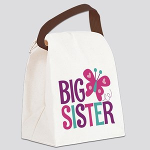 Butterfly Big Sister Canvas Lunch Bag