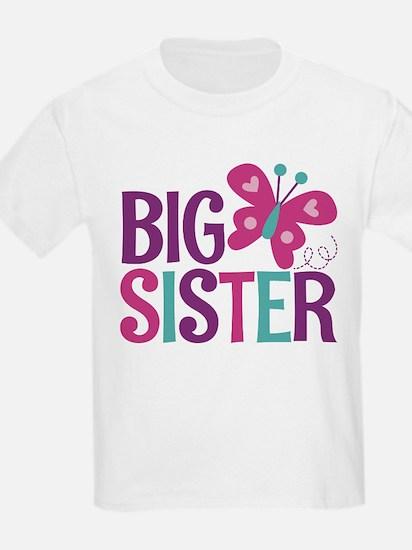 Butterfly Big Sister T-Shirt