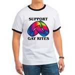 SUPPORT GAY RITES Ringer T
