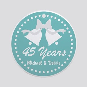 45th Anniversary Personalized Gift Round Ornament