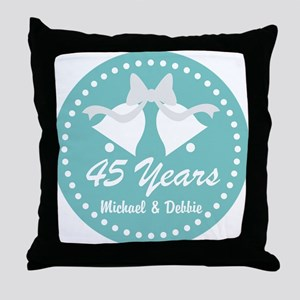 45th Anniversary Personalized Gift Throw Pillow