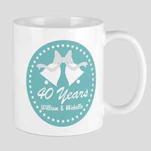 40th Anniversary Personalized Gift Mugs