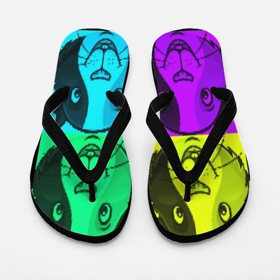 Guinea Pig Faces Stamp Flip Flops