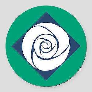Gamma Alpha Omega Rose Round Car Magnet