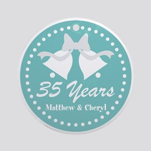 35th Anniversary Personalized Gift Round Ornament