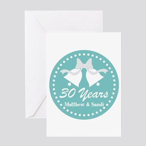 30th Anniversary Personalized Gift Greeting Cards