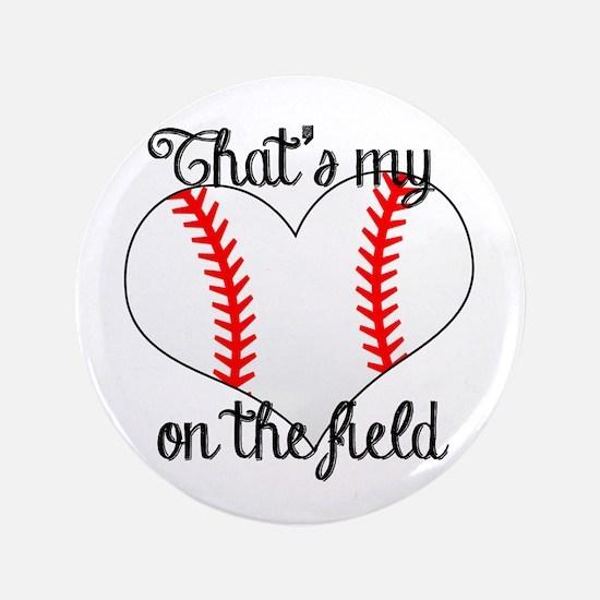 Baseball Heart Button