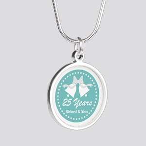 25th Anniversary Personalized Gift Necklaces