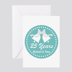 25th Anniversary Personalized Gift Greeting Cards