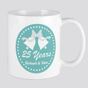 25th Anniversary Personalized Gift Mugs