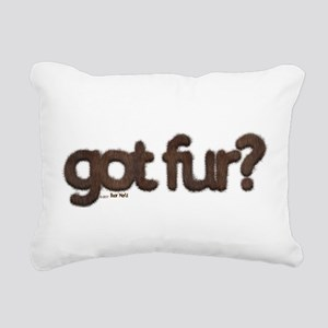 got fur? - Furry Fun - G Rectangular Canvas Pillow