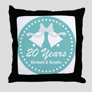 20th Anniversary Personalized Gift Throw Pillow