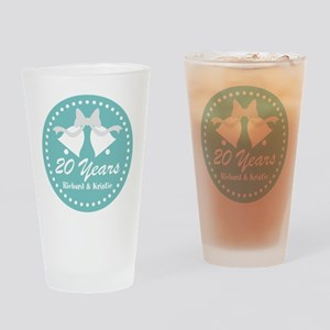 20th Anniversary Personalized Gift Drinking Glass