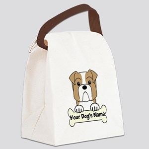 Personalized Bulldog Canvas Lunch Bag