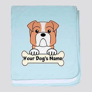 Personalized Bulldog baby blanket