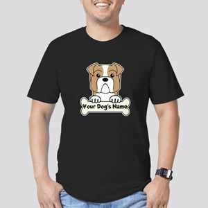Personalized Bulldog Men's Fitted T-Shirt (dark)