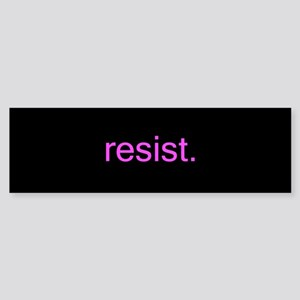 resist - pink on black Bumper Sticker