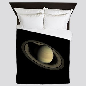 Saturn Portrait by Cassini Queen Duvet