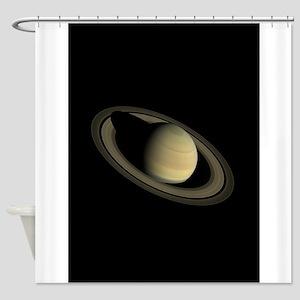 Saturn Portrait by Cassini Shower Curtain