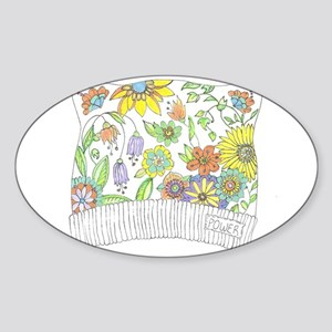 Pussy Cat Flower Hat Sticker