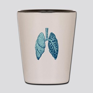 LUNGS Shot Glass