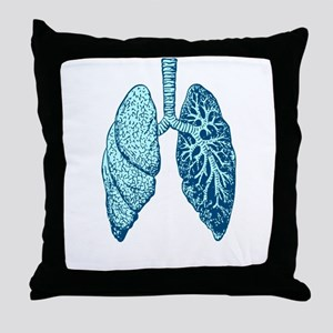LUNGS Throw Pillow
