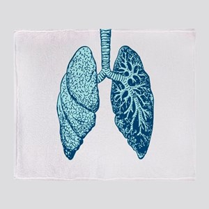 LUNGS Throw Blanket