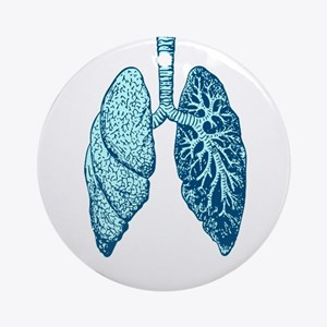 LUNGS Round Ornament