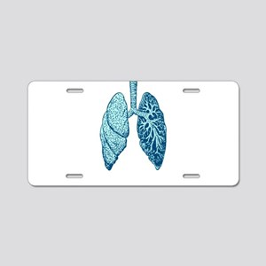 LUNGS Aluminum License Plate