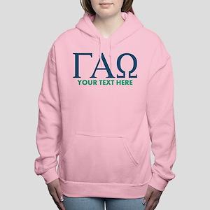 Gamma Alpha Omega Letter Women's Hooded Sweatshirt