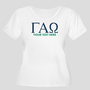 Gamma Alpha O Women's Plus Size Scoop Neck T-Shirt