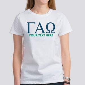 Gamma Alpha Omega Letters Personal Women's T-Shirt