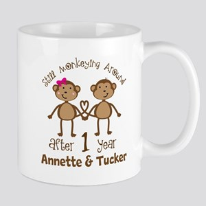 Funny 1st Anniversary Personalized Mugs