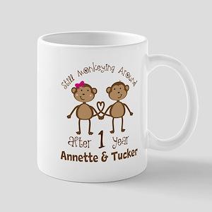 Funny 1st Anniversary Personalized Mugs