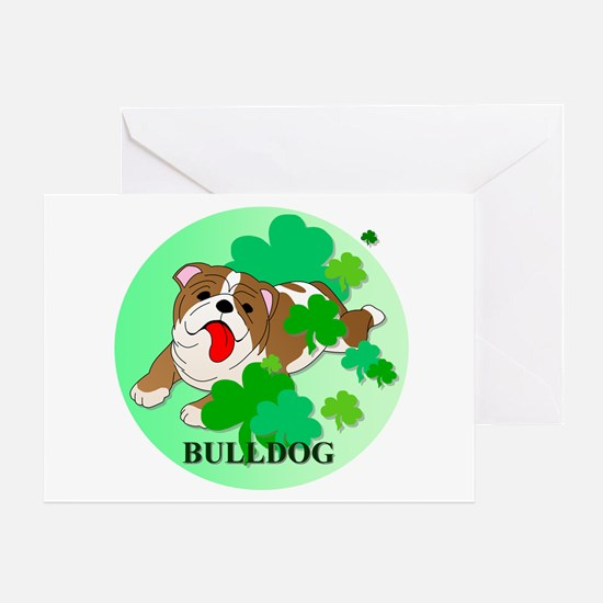 Irish Bulldog Greeting Card