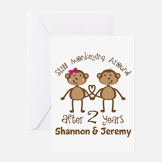 Funny 2nd Anniversary Personalized Greeting Cards