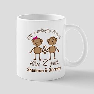 Funny 2nd Anniversary Personalized Mugs