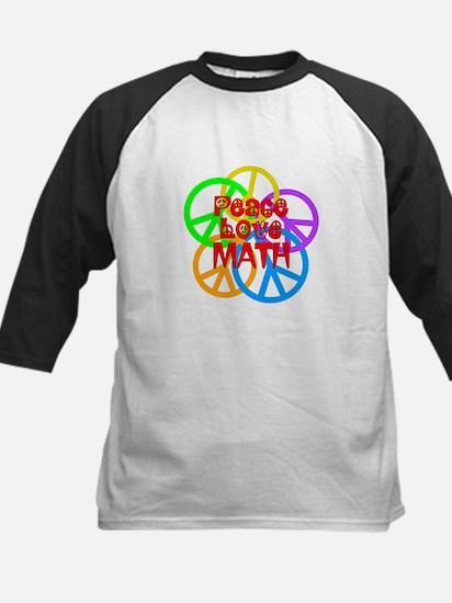 Peace Love Math Kids Baseball Jersey