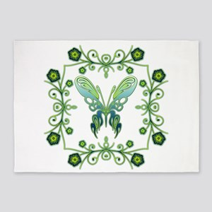 Butterfly Bliss 5'x7'Area Rug