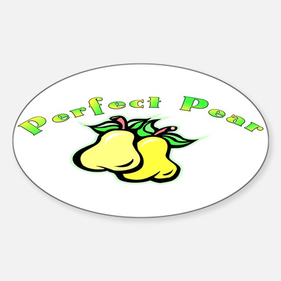 Perfect Pear Oval Decal