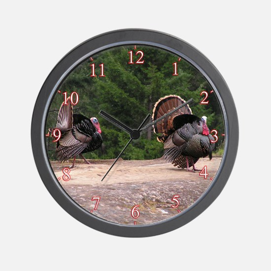 The Gobblers - Two Turkeys Wall Clock