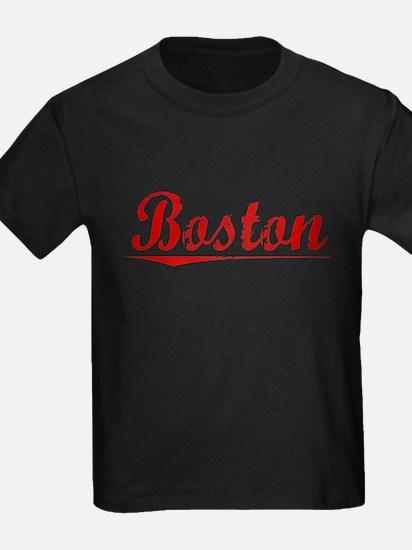 Boston, Vintage Red T-Shirt