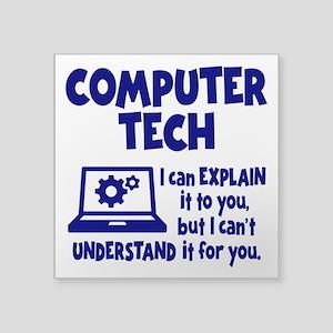 """COMPUTER TECH Square Sticker 3"""" x 3"""""""