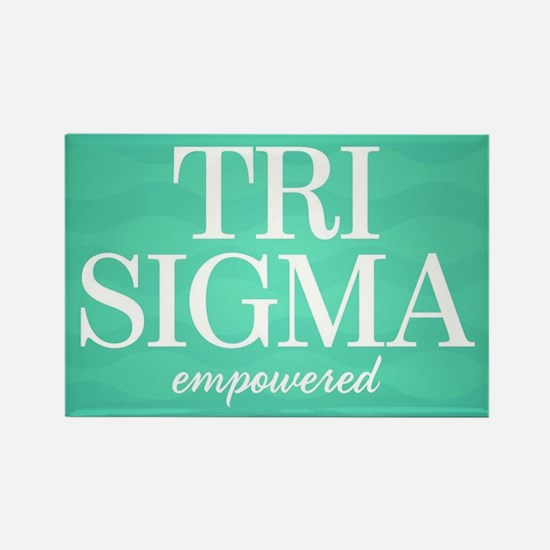 Sigma Sigma Sigma Tri Sigma Empow Rectangle Magnet