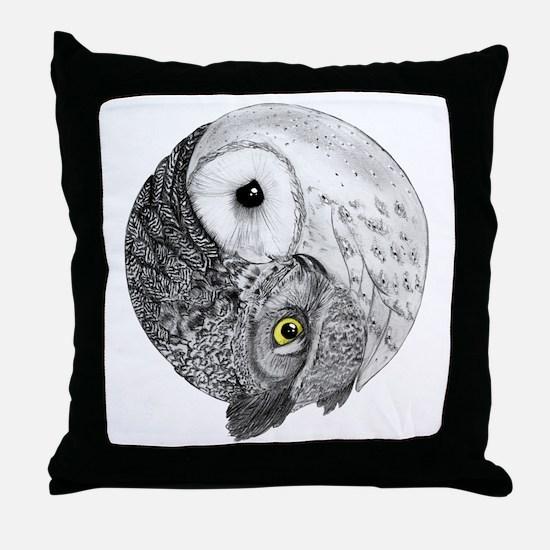 Unique White owl Throw Pillow