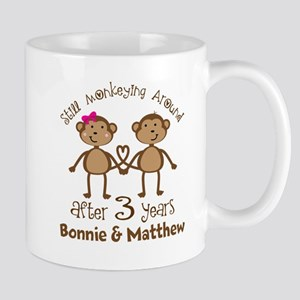 Funny 3rd Anniversary Personalized Mugs