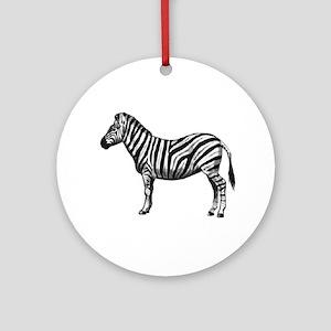 ZEBRA Round Ornament